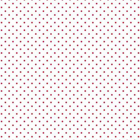 Swiss Dot On White Red