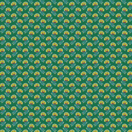 RILEY- Fleurs Floral Green