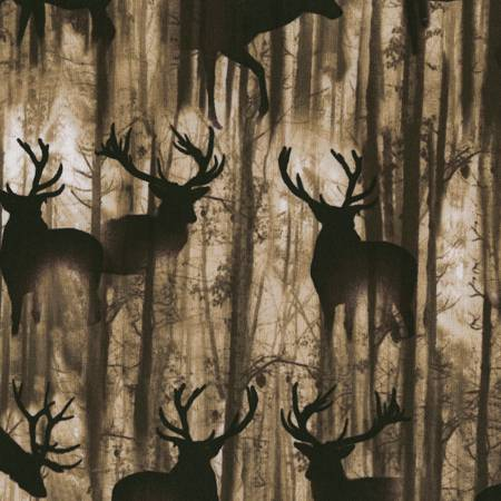 Deep in the Woods - C6687-CEDAR - Deer Silhouettes