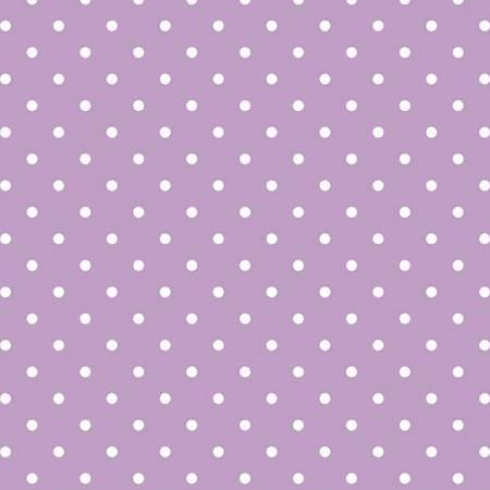 White Swiss Dot On Lavender C 670-125