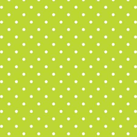 Swiss Dot White On Lime