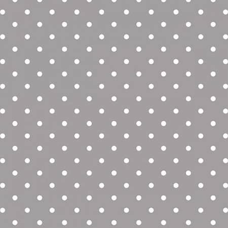 White Swiss Dot on gray