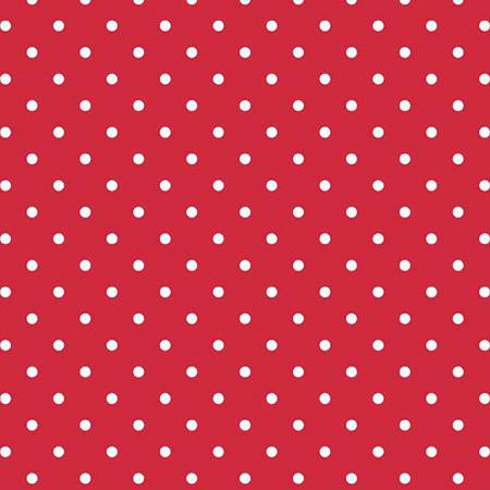 White Swiss Dot On Red