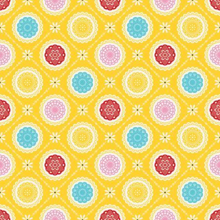 Happiness is Handmade Doily Yellow