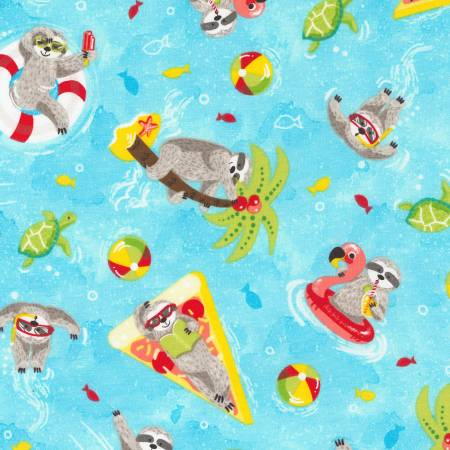 Fun-Aqua Summer Sloths