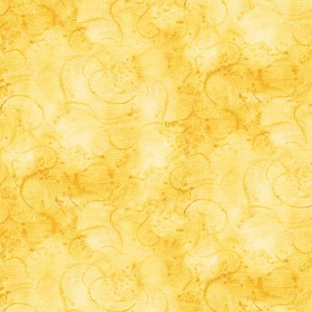 Painter's Watercolor Swirl - Yellow