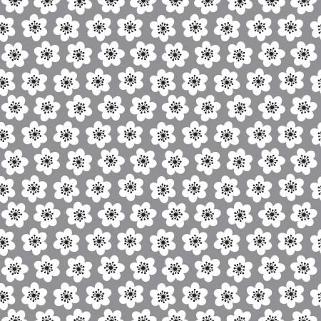 Delilah Floral Gray