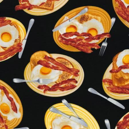 Black Eggs & Bacon Breakfast