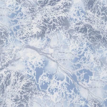 Snowy Tree Branches Grey