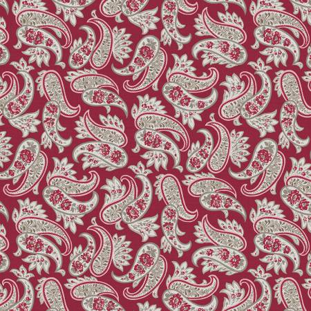 RUSTIC PAISLEY RED