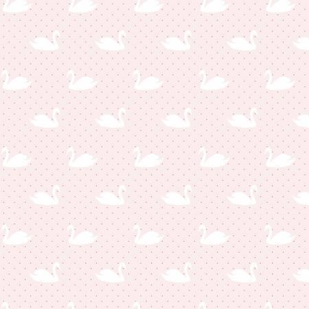 Love Story Swans Pink