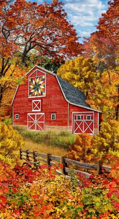 Fall Autumn Barn Panel