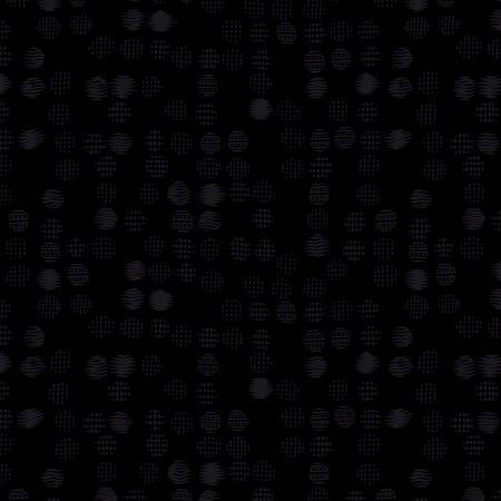 Black Textured Dots