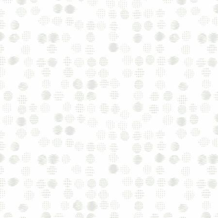 White Textured Dots