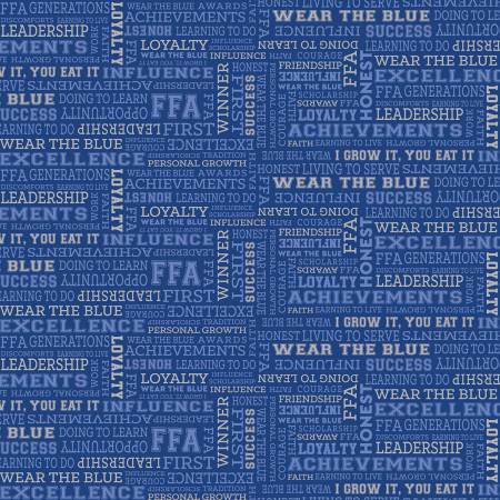 Riley Blake Designs FFA Forever BLUE FFA Text