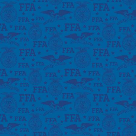Riley Blake Designs FFA Forever Blue FFA Logo