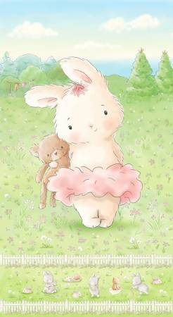 Multi Freindship Blossoms Bunny 24in Panel