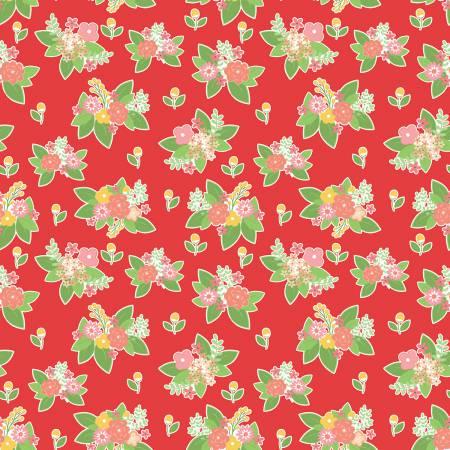 Vintage Adventure C7274-RED - Floral Red