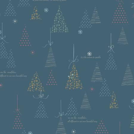 C7311-Blue Winter Tales Winter Tree Riley Blake