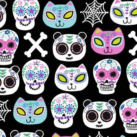 Multi Sugar Skulls, Cats & Bears TT112719
