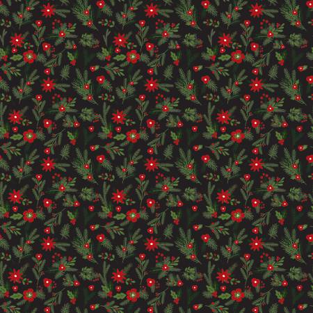 Christmas Delivery by Carta Belia  Black Floral C7332+