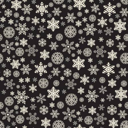 Christmas Delivery by Carta Belia Black Snowflakes C7333+