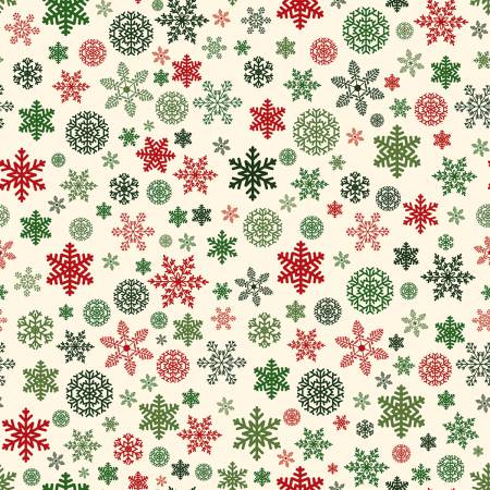 Christmas Delivery Snowflakes Cream