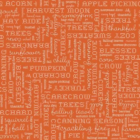 Autumn Love Text C7361-Orange^