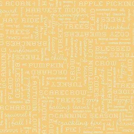 Autumn Text Yellow