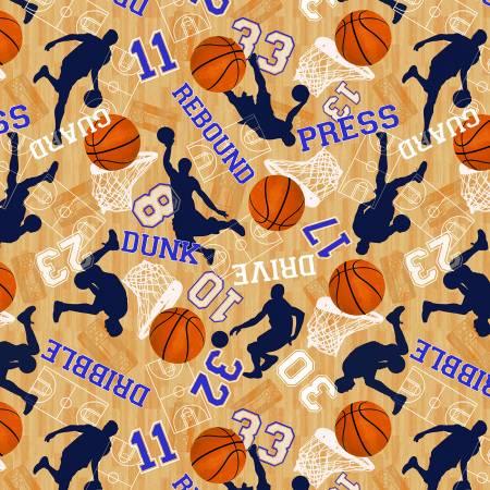 Tan Basketball Court