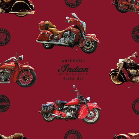 Indian Motorcycles-Red #7380
