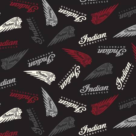 Riley Blake Indian Logos Black