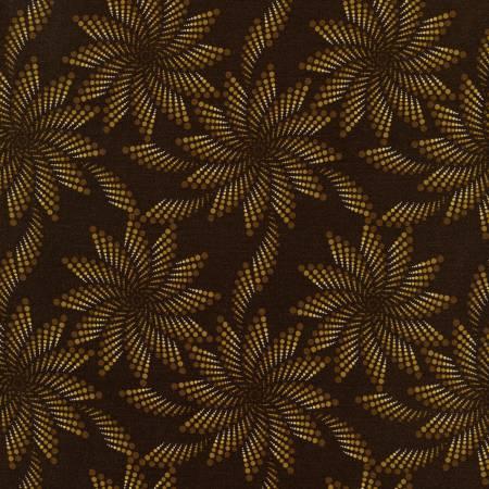JN DESERT ROSE Brown Dotted Flower C7414