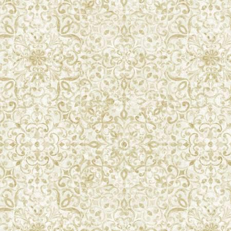 London Blues - Floral Tile Pattern - Cream