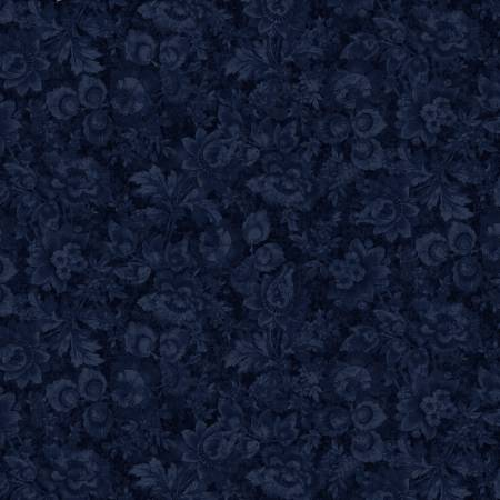 London Blues - Packed Stamp Floral - Navy