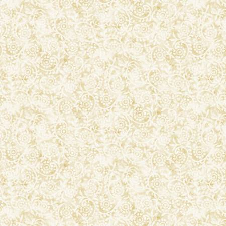 London Blues - Stamped Pattern - Cream