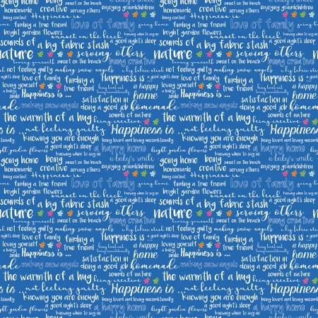Happy Text Blue