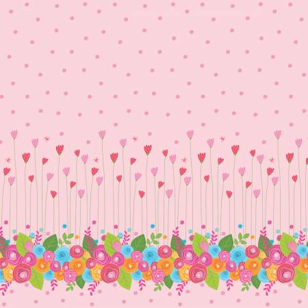 Happy Border Pink