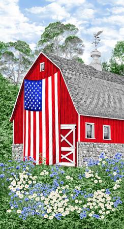 Multi Red Barn 24in Panel