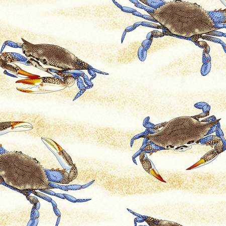 SPECIALTY FABRICS:  Sand Crabs on Cream by Timeless Treasures