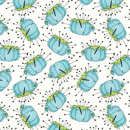 C7562R-BLUE Pincushion Blue Paperdolls J Wecker Frisch