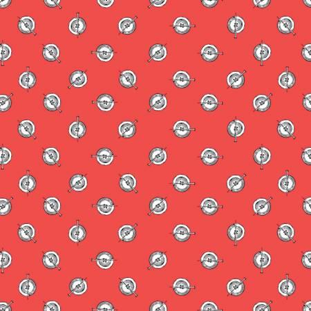 Riley Blake Paperdoll Polka Button Red