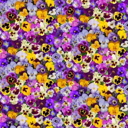 Timeless Treasures Fleur Multi Packed Floral