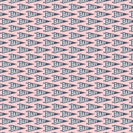 C7572-Pink Hello Baby Banner Pink Riley Blake