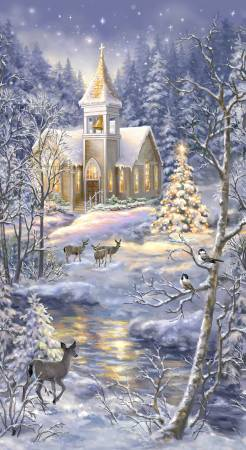 Multi Winter Church Panel 24in