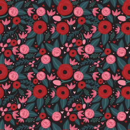 Hello Sweetheart Floral Black
