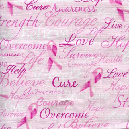 Pink Ribbon Cure Words