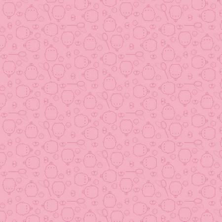 Riley Blake Molang Toss Pink