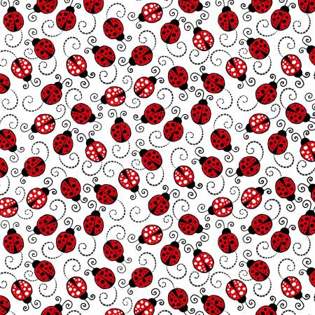 White Happy Ladybugs (F10703)