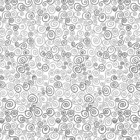 White Happy Spirals